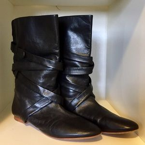 Bella by Sigerson Morrison Black Leather Booties